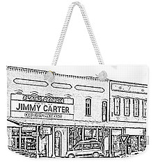 Weekender Tote Bag featuring the photograph Plains Ga Downtown by Jerry Battle