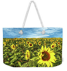 Plains Sunflowers Weekender Tote Bag