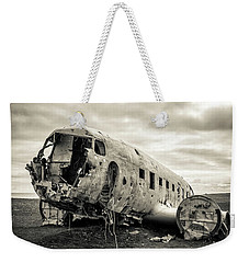 Weekender Tote Bag featuring the photograph Plane Crash Iceland by Edward Fielding