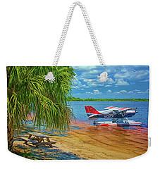 Plane On The Lake Weekender Tote Bag