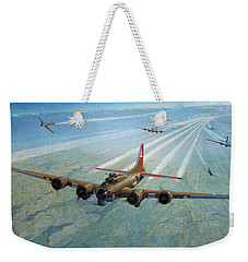 Weekender Tote Bag featuring the photograph Plane by Test