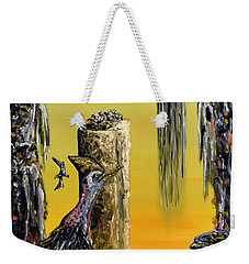 Weekender Tote Bag featuring the painting Planet Of Anomalies by Ryan Demaree