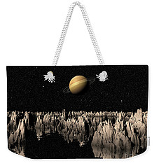 Planet Saturn Weekender Tote Bag