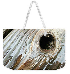 Weekender Tote Bag featuring the photograph Planking The Right Way? by Robert Knight