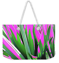 Weekender Tote Bag featuring the photograph Plant Burst - Pink by Rebecca Harman