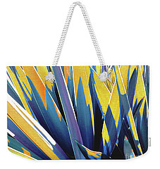 Weekender Tote Bag featuring the photograph Plant Burst - Yellow by Rebecca Harman