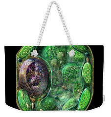 Weekender Tote Bag featuring the digital art Plant Cell by Russell Kightley