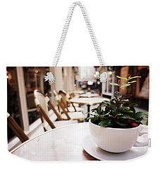 Plant In A Cup In A Cafe Weekender Tote Bag