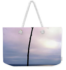 Weekender Tote Bag featuring the photograph Plant Silhouette Over Ocean by Mariola Bitner