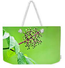 Elderberry In Rain Weekender Tote Bag