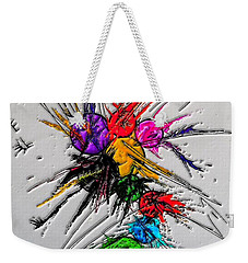 Weekender Tote Bag featuring the digital art Plash Original Paint By Nico Bielow by Nico Bielow
