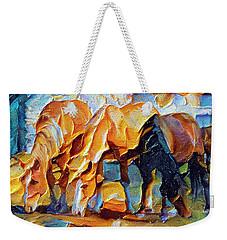 Plastic Horses Weekender Tote Bag