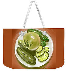Plate Of Pickles Weekender Tote Bag