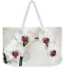 Platnum Beauty Orchids Weekender Tote Bag by Marsha Heiken