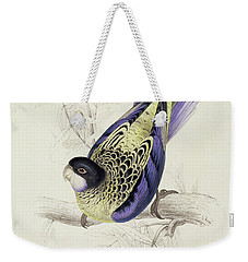 Platycercus Brownii, Or Browns Parakeet Weekender Tote Bag by Edward Lear