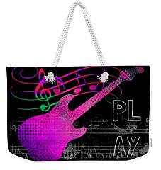 Weekender Tote Bag featuring the digital art Play 5 by Guitar Wacky