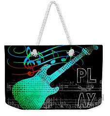 Weekender Tote Bag featuring the digital art Play 4 by Guitar Wacky