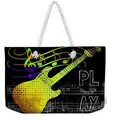 Weekender Tote Bag featuring the digital art Play 2 by Guitar Wacky