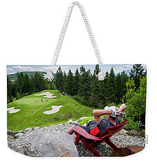 Weekender Tote Bag featuring the photograph Play Through Or Enjoy The View by Darcy Michaelchuk