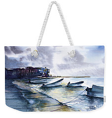 Weekender Tote Bag featuring the painting Playa Del Carmen by Allison Ashton