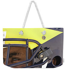 Player In Winged Helmet Weekender Tote Bag