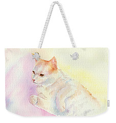 Playful Cat IIi Weekender Tote Bag by Elizabeth Lock