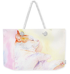 Playful Cat Iv Weekender Tote Bag by Elizabeth Lock