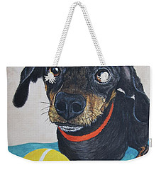 Playful Dachshund Weekender Tote Bag