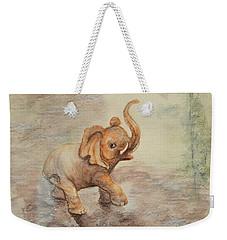 Playful Elephant Baby Weekender Tote Bag