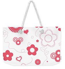 Playful Flower Background Weekender Tote Bag