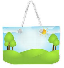 Playful Kid's Spring Backdrop Weekender Tote Bag