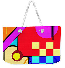 Weekender Tote Bag featuring the digital art Playful by Silvia Ganora