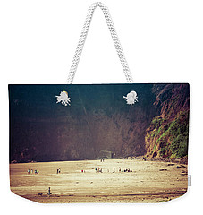 Playing Along Oceanside Oregon Weekender Tote Bag
