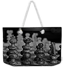 Weekender Tote Bag featuring the photograph Playing Chess 2 by Cendrine Marrouat