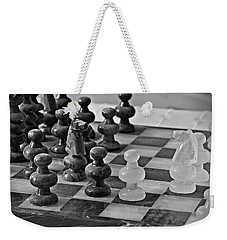 Weekender Tote Bag featuring the photograph Playing Chess by Cendrine Marrouat