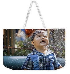 Playing In The Rain Weekender Tote Bag