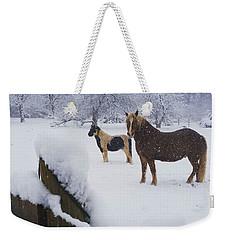 Playing In The Snow Weekender Tote Bag