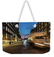 Weekender Tote Bag featuring the photograph Playing In Traffic by Randy Scherkenbach