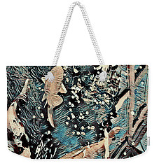 Weekender Tote Bag featuring the digital art Playing It Koi by Mindy Newman