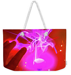 Playing With 20000 Volts Weekender Tote Bag