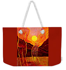 Playing With The Moon Weekender Tote Bag