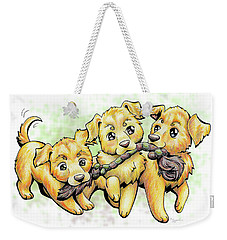 Playtime Golden Retriever Weekender Tote Bag