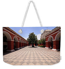 Weekender Tote Bag featuring the photograph Plaza At Santa Catalina Monastery by Aidan Moran