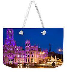 Plaza De Cibeles In Madrid Weekender Tote Bag