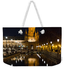 Plaza De Espana At Night - Seville 6 Weekender Tote Bag by Andrea Mazzocchetti
