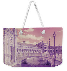Weekender Tote Bag featuring the photograph Plaza De Espana. Dreamy by Jenny Rainbow