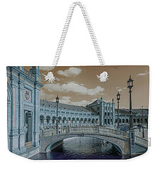 Weekender Tote Bag featuring the photograph Plaza De Espana Vintage by Jenny Rainbow
