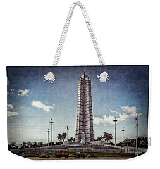 Weekender Tote Bag featuring the photograph Plaza De La Revolucion by Lou Novick