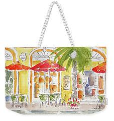 Weekender Tote Bag featuring the painting Plaza Machada Mazatlan by Pat Katz