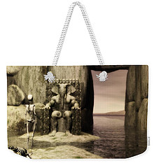Weekender Tote Bag featuring the digital art Plea Of The Penitent To The Lord Of Perdition by John Alexander